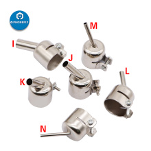 45 Degree Bent Curved Angle Nozzle Sleeve for 850 Series Hot Air Gun 852 852D Hot Air Soldering Station Nozzle Replacement Tips