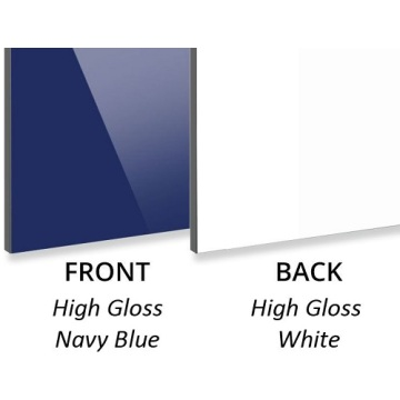 3MM High Gloss Navy Blue/High Gloss White ACP
