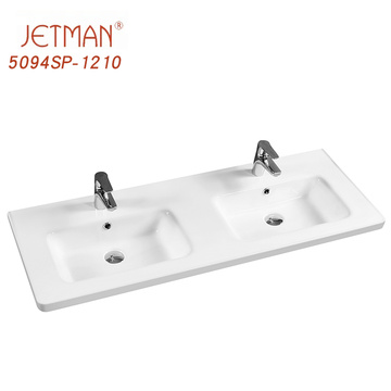 Rectangular bathroom lavatory vanity counter top basin