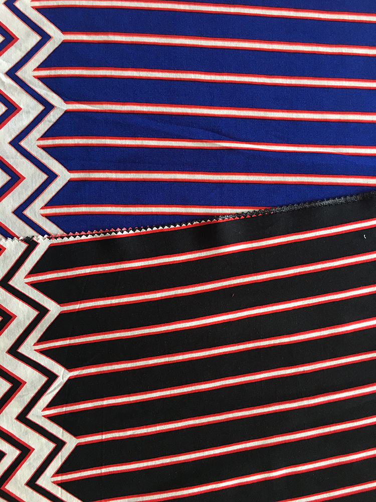 Geometric Border Rayon Challis 30S Light Printing Fabric