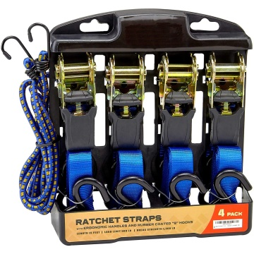 4PK tie down belt ratchet strap