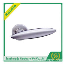 SZD STLH-006 New Product Curved Lever Door Handle On Round Rose Stainless Steel