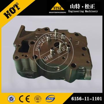 Komatsu Spare Part 6150-11-1101 for S6D125E-1 Cylinder Head