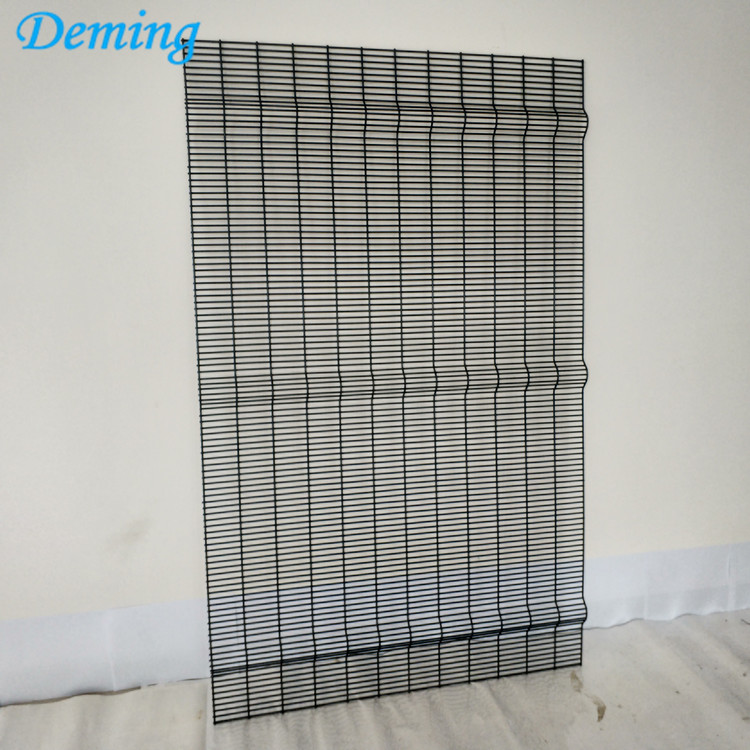 Factory PVC Coated Anti-climb Anti-cut 358 Prison Fence