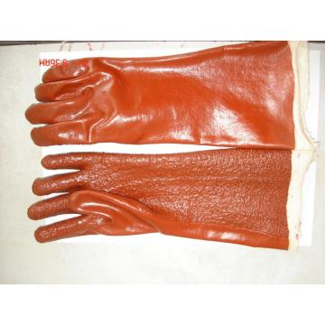 Brown PVC Heavy Duty Terry Toweling Liner gloves