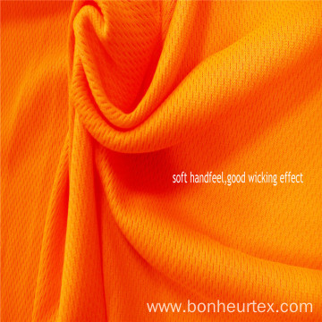 High visibility Polyester Knitted Bird eyes Fabric
