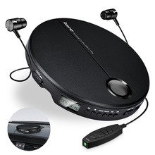 Portable CD Player with Earphones HiFi Music Compact Disc Walkman Player Reproductor CD Anti-Shock Personal Car Music Player
