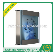 SZD SMB-071SS Made in China stainless steel waterproof letter box with glass