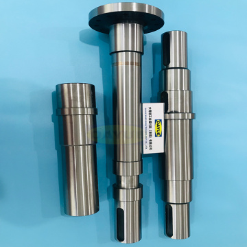 Grinding and machining hardened steel shaft components
