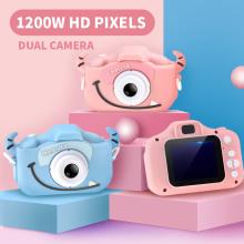 Children Kids Camera for New HD 1080P Dual Digital Camera With Cartoon Case Baby Kids Camera Children Birthday Christmas Gifts