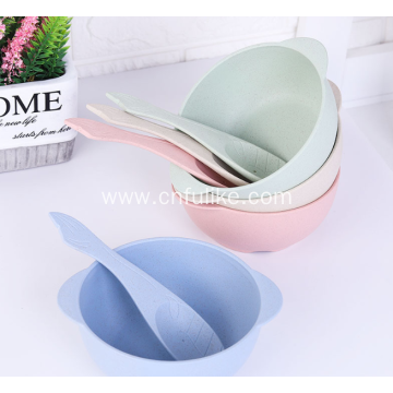 Children Wheat Straw Bowls with Spoon