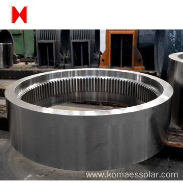 large steel forging helical bevel gear