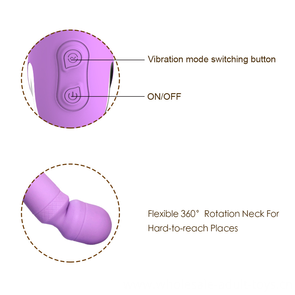Y Love Usb Rechargeable Silicone Av Vibrator 2