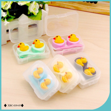 Lymouko New Design Lovely Duckling Patterns Portable Contact Lens Case Kit Lenses Container Box of Women Eyewear Accessories
