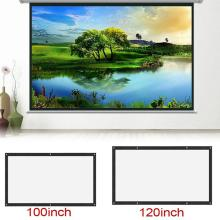 Portable 60/72/84/100/120 inch 3D HD Wall Mounted Projection Screen Canvas 16:9 LED Projector Screen For Home Theater
