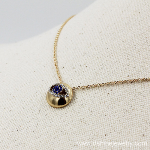 Diamond Evil Eye Necklace Handmade Party Chain Choker Jewelry