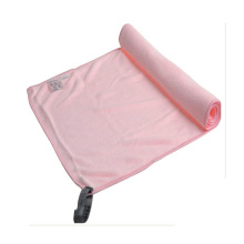 printing logo microfiber suede towel with zipper pocket