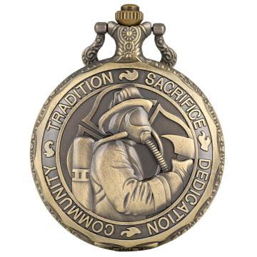 Quartz Pocket Watch Men Antique Nurse Watch Firefighters Guard Holy Floridan Pocket Watches Timepieces Clock Male Gift cep saati
