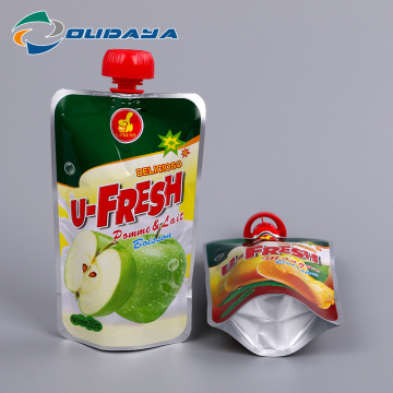 Customized Printing Pouch Plastic Pouches with Spout Cap