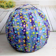 Cubby Cartoon Canvas Fabric Stuffed Animal Beanbag Cover