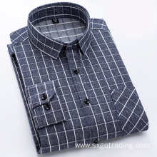 Dark color 100% cotton flannel shirt