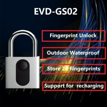 Low power waterproof fingerprint padlock