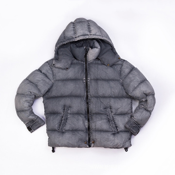 Men`s Nylon garment dyed down jacket