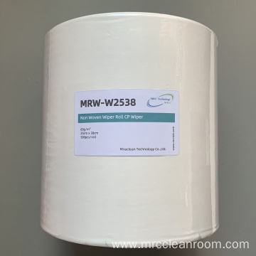 25cm x 38cm White Nonwoven Roll CP Wiper