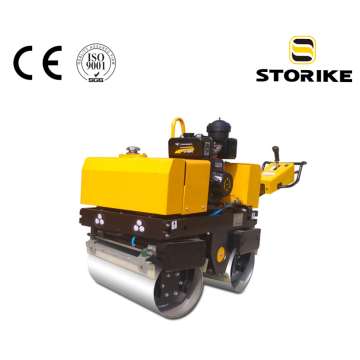 Small hand push diesel concrete road roller