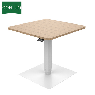Electric Control Small Table For Workstation Wooden Meeting