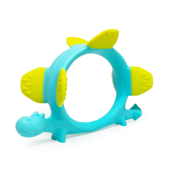 BPA Free Dinosaur Durable Silicone Teether Toy