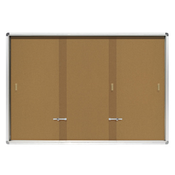 School Sliding Doors Lockable notice board with lock