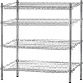 4-Shelf Shelving Unit Stainless Steel Storage Rack