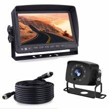 night vision 8 led waterproof rearview camera monitor