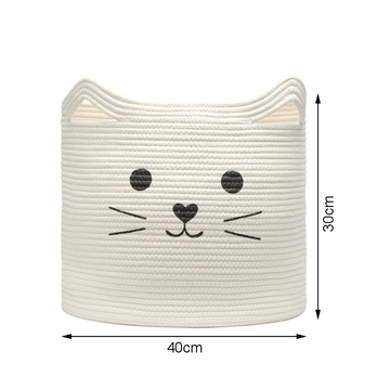 Cat Cotton Rope Basket Bag Gift
