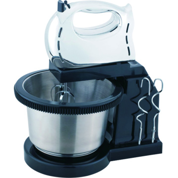 Electric cake mixer with rotating bowl stand mixer