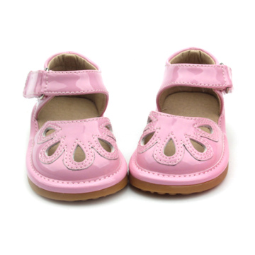 Pink PU Leather Squeaky Shoes