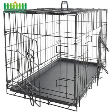 Stainless Black Steel Dog Cage	Cheap Price