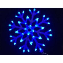 40led Snowflakes LED fairy String Light snow flake rope light motif Christmas Xmas tree Lights Bracket decoration 220V-BLUE