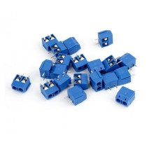 Blue 2 Pin 5.08mm Pitch Blue Connect Terminal Block Terminal Connector Screw Terminal Connector Wholesale 10pcs/set