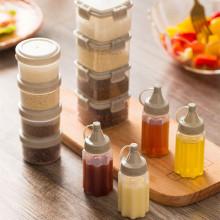 MOM'S HAND 4pcs/Set Kitchen Plastic Salad Dressing Squeeze Bottle Condiment Dispenser