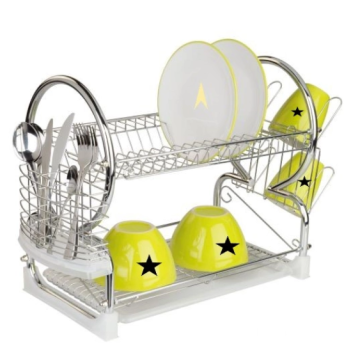 Custom steel dish rack for kitchen