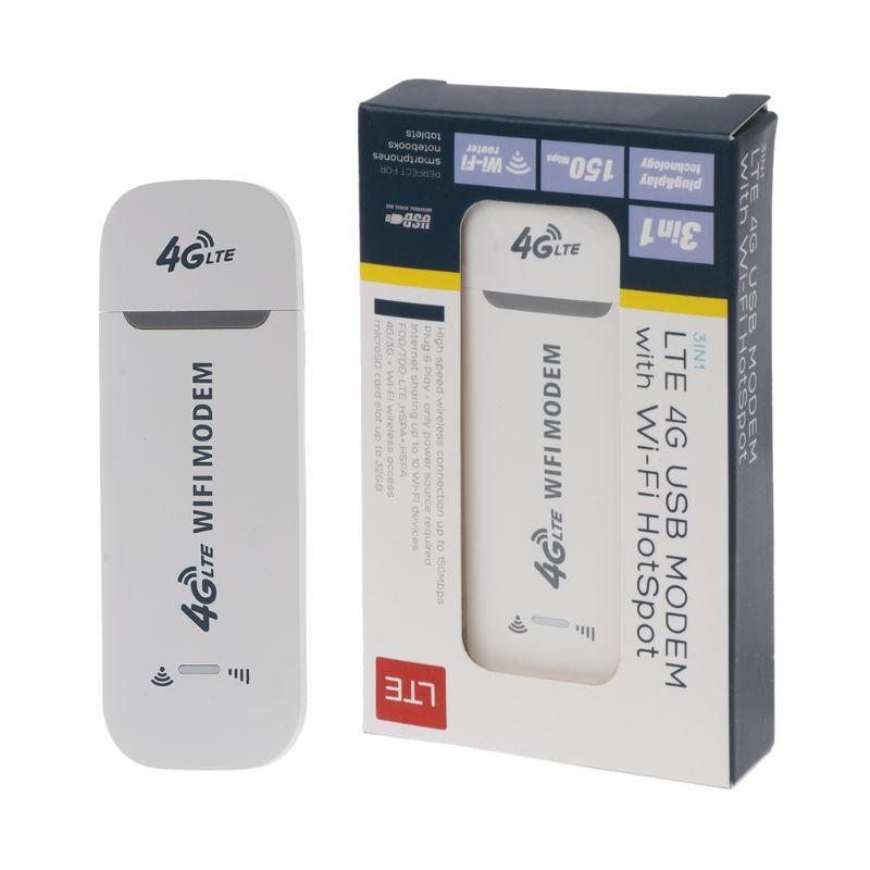 4G LTE USB Modem Adapter With WiFi Hotspot SIM Card 4G Wireless Router For Win XP Vista 7/10 Mac 10.4