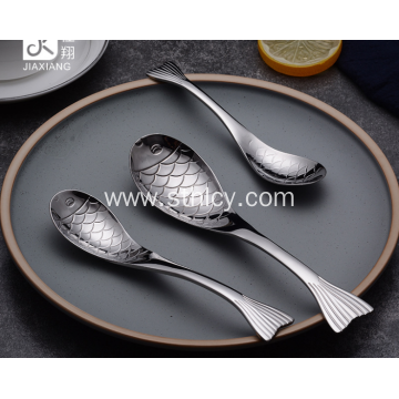 Stainless Steel Cartoon One Year Old Fish Spoon