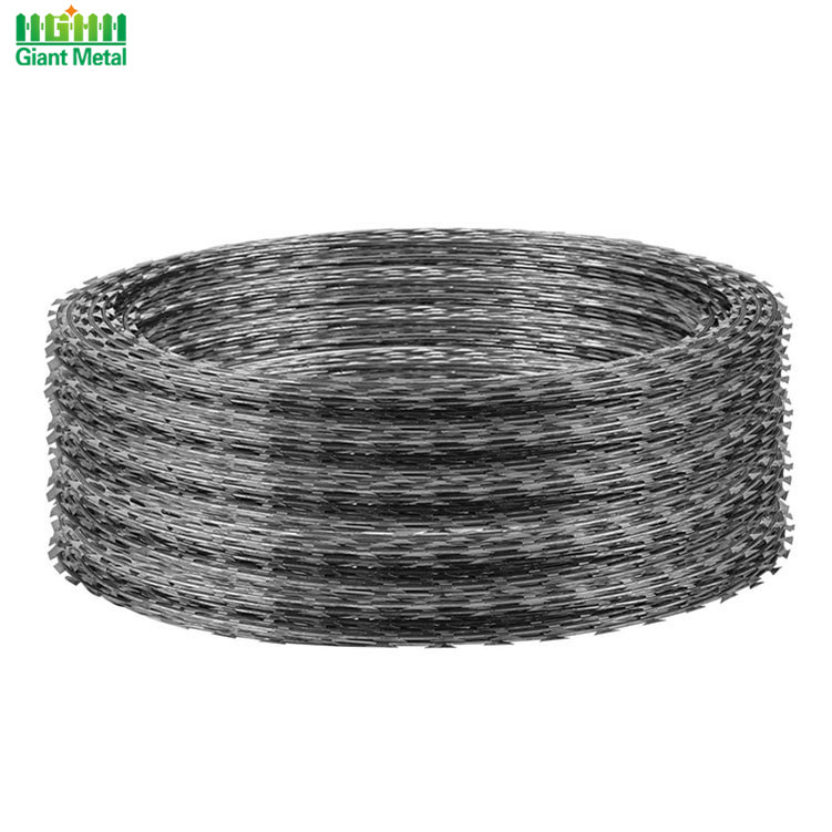 Military Single Loop Rust Proof Barbed Razor Wire