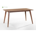 Solid Wood Table Talahanayan 1.4M Madilim na Walnut