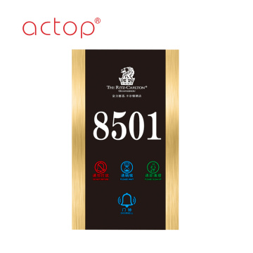 hotel door signs doorbell switch door plate/electronic switch