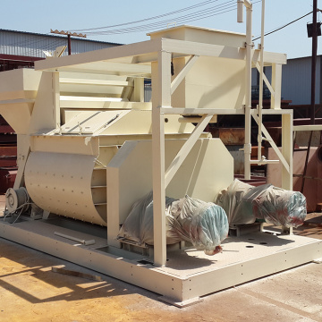 JS universal twinshaft concrete mixer machinery