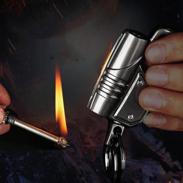 Honest Permanent Match Keychain Lighter New Type Metal LED Waterproof No Flint Fire Kerosene Camping Outdoor Survival Tool