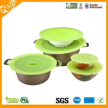 flexible Food Grade OEM Silicone stretch Cover Lid